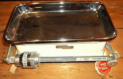 Mikro Doft bench top 10kg mechanical beam balance vintage Scale retro German