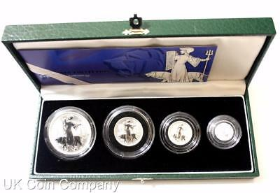 2001 Britannia Fine Silver Proof Four Coin Collection Boxed & Certificate