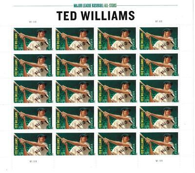 Us Scott 4694 Pane Of 20 Baseball Ted Williams Stamps Forever Mnh