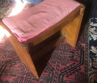 Rare Item Of Utility Furniture From World War II Era - Art Deco Style Stool