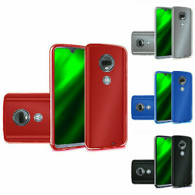 For Moto G Power 7th Gen/G7 Supra Crystal Clear TPU Cover Case + Tempered Glass