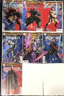 Star Wars Age of Republic #1 Puzzle Variant Set of 7 2019 Unread NM 1st Print