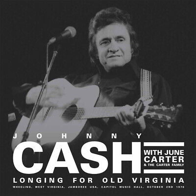 JOHNNY CASH w CARTER FAMILY 2019 UNRELEASED 1976 LIVE CONCERT 2 VINYL RECORD SET