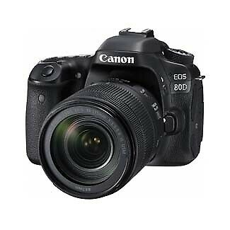 Canon EOS 80D DSLR Camera Body Kit with  EF-S 18-135mm F3.5-5.6 IS USM Lens 1263