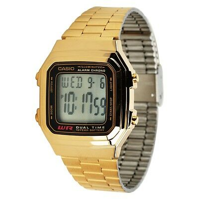 Casio A178WGA-1A Mens Gold Stainless Steel Digital Watch 10 Year Battery A178WG