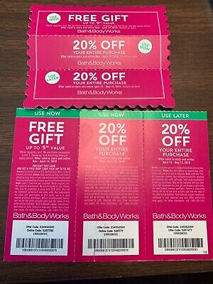 SIX GREAT BATH & BODY WORKS $$$ SAVING COUPONS!! GOOD THROUGH APRIL 14 & May 12