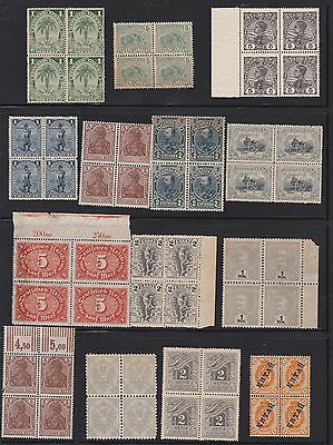 Kappysstamps Id7699 27 Early 1900'S  Worldwide Mint  Bk/4 Block  Lot Collection