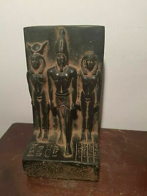 Rare Antique Ancient Egyptian Statue king Menkaure God Hathor Amun 2540-2500BC