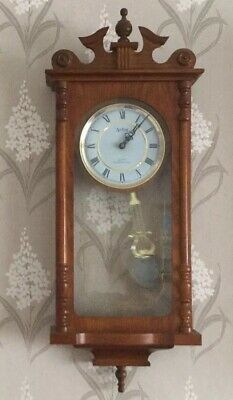Acctim Westminster Quartz Vintage Style Chiming Wooden Wall Clock