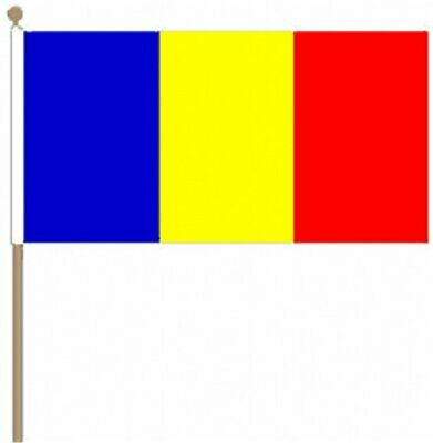 12x Romania Hand Table or Waving Flag Country Romanian Party Pack