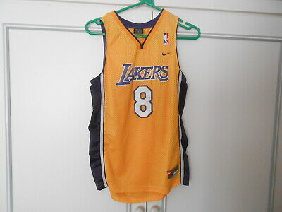 Nba Los Angeles Lakers Basketball Shirt Jersey By Nike  Bryant 8  Size Small