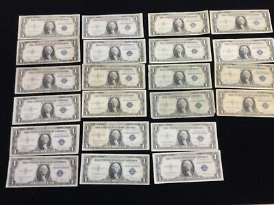 lot of 22 1935 One Dollar Silver certificate