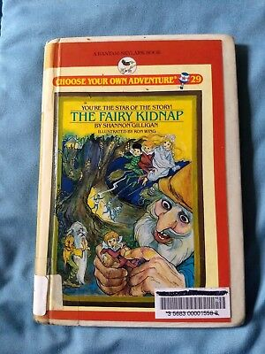 HC hardcover book CHOOSE YOUR OWN ADVENTURE vintage # 29 Fairy Kidnap CYOA 1985