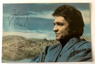 Johnny Cash Musician Authentic Hand Signed Post Card Autographed House Of Cash