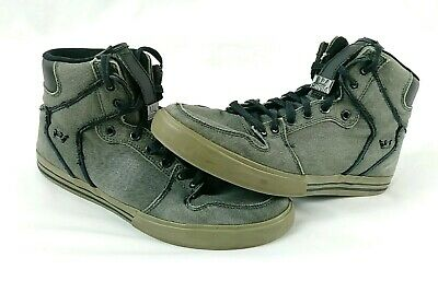 eb8882a822 Supra Vaider Men's Canvas Shoes High Top Skate Sneakers Size 10 -  Charcoal/White
