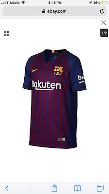 4a0f8f9f89e NWT NIKE LIONEL MESSI FC BARCELONA HOME YOUTH JERSEY 2017 18. Youth large