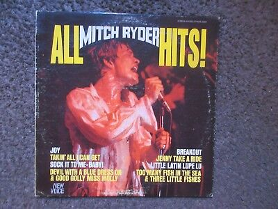 """Mitch Ryder """"All Mitch Ryder Hits"""" 1967 New Voice Nv2004 Stereo Vg-/Vg Oop Lp"""