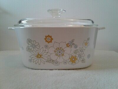 Corning Ware Floral Bouquet 3 Qt. A-3-B Large Casserole With Lid