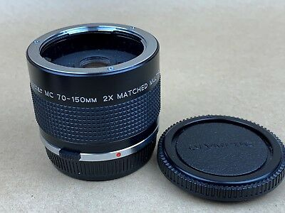 VIVITAR MC 70-150mm 2x Matched Multiplier Tele Converter - Olympus OM Mount