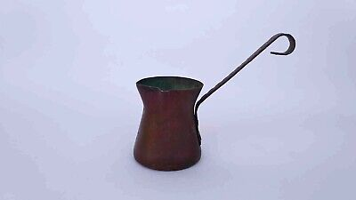 Vintage&Antiques old wrought copper pot for tea or coffee Handmade Brass handle