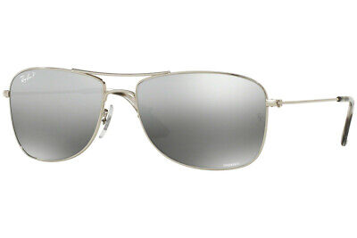 b99810d83e0bc New Ray Ban Polarized Chromance Silver w Mirror Lens Sunglasses (RB3543  003 5J)