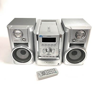 Sony CMT-HP7 AM/FM Stereo Receiver 5-CD Changer, Cassette, MP3, W/ remote 100W