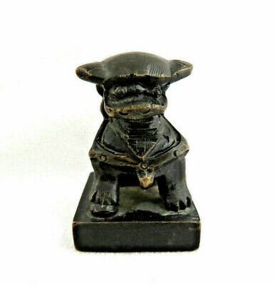 Old Chinese Solid Bronze Foo Dog Chop Seal