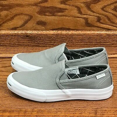 750ef8d57e6d Converse Jack Purcell II Slip On Dolphin Black White Shoes Size Men 4.5  Women 6