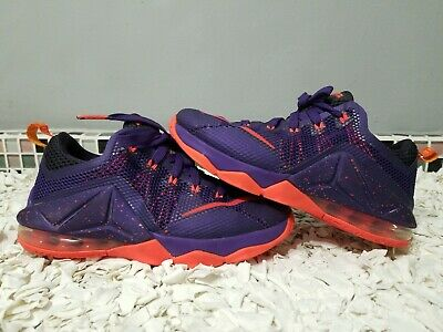 0f55b615b88 Nike Lebron Xii 12 Low Raptors Court Purple Bright Crimson 4Y (744547-565)