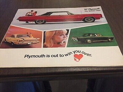 1967 Plymouth & GTX Dealer Sales Brochure Booklet Catalog original 2 nos pieces