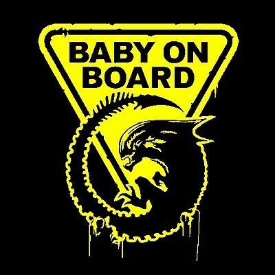 """Alien """"Baby on Board""""T-shirt -All Sizes *High Quality*"""