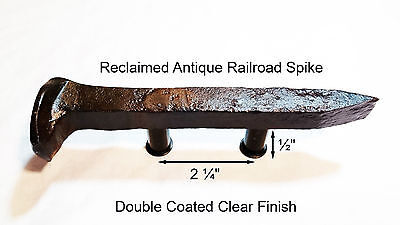 "2-1/4"" Left Sealed Railroad Spike Dresser Drawer Cabinet Handle Antique Vintage"