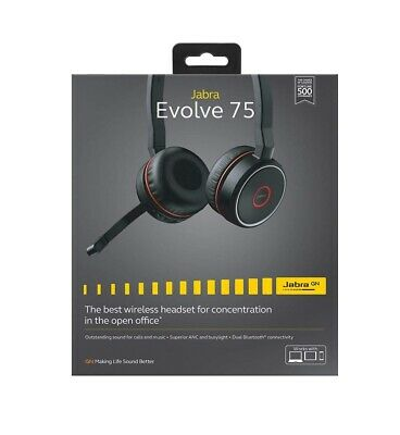 Jabra Evolve 75 Ms Stereo Bluetooth Headset With Link 370 Usb Adapter 137 50 Picclick