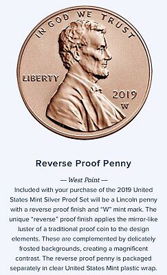 2019 W Lincoln Penny Reverse Proof West Point Struck #2 of 3 this year PRESALE