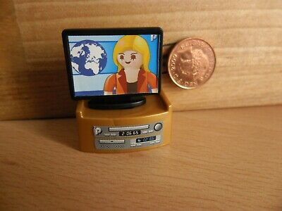 4538 Television / Flat Screen TV & Tuner - House / Mansion Playmobil New Spares