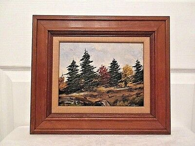Vintage Canadian Oil On Board Painting / North Bay Landscape / Signed & Dated