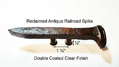 "1-1/4"" Right Sealed Railroad Spike Dresser Drawer Cabinet Handle Antique Vintage"