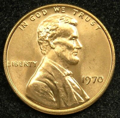 1970 Uncirculated Lincoln Memorial Cent Penny BU (B05)