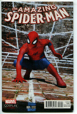 Amazing Spider-Man #1 Cosplay Variant Cover Marvel Comics VF 2015