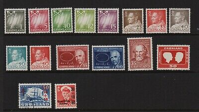 Greenland - 16 Mint, never hinged stamps, cat. $ 30.60