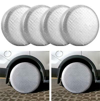 """Set of 4 Wheel Tire Covers 30""""-32"""" For RV Trailer Camper Car Truck Motorhome"""