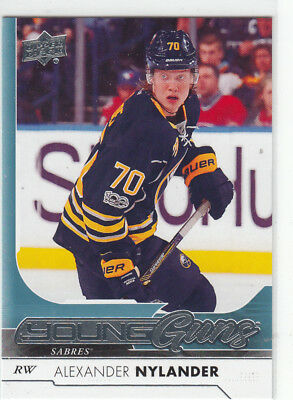 17/18 Ud Series 1 Alexander Nylander Young Guns Rc Sp Rookie #222