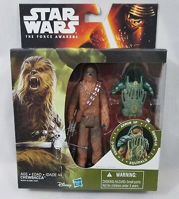 """Star Wars CHEWBACCA Armor Up 4.5/"""" Deluxe Figure Hasbro The Force Awakens New"""