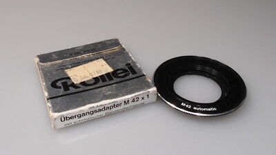 Rollei M 42 X 1 Adapter Nos W/Box