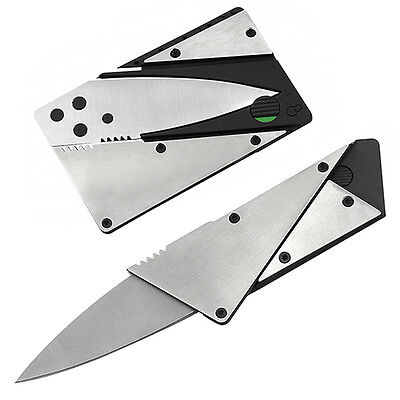Quality Steel Outdoor Credit Card Thin Cardsharp Folding Pocket Knife Camping