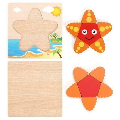 New Kids Toddlers Wood Owls Children's Puzzle Shaped Wooden Peg Puzzle Toy J