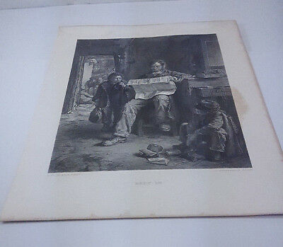 1888 Erskine Nicol Kept In J. Stephenson Steel Engraving & Text Page Irish Life