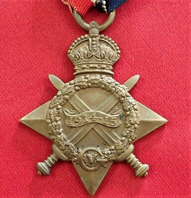 *kia* 20Th *pals* Liverpool Regt Ww1 1914 - 15 Star Medal 22181 Richard Moulton