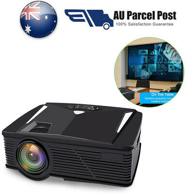 2019 WIFI 3D Full HD 1080P 8000 ANSI LED Projector Home Theater 2 USB HDMI NEW