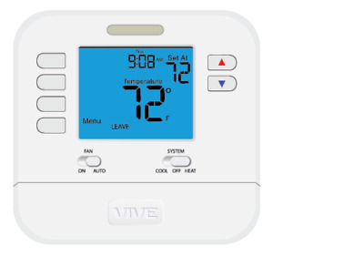 Wall Thermostat VIVE Non-Programmable Thermostat TP-P-705  with PRO1 Magnet Logo
